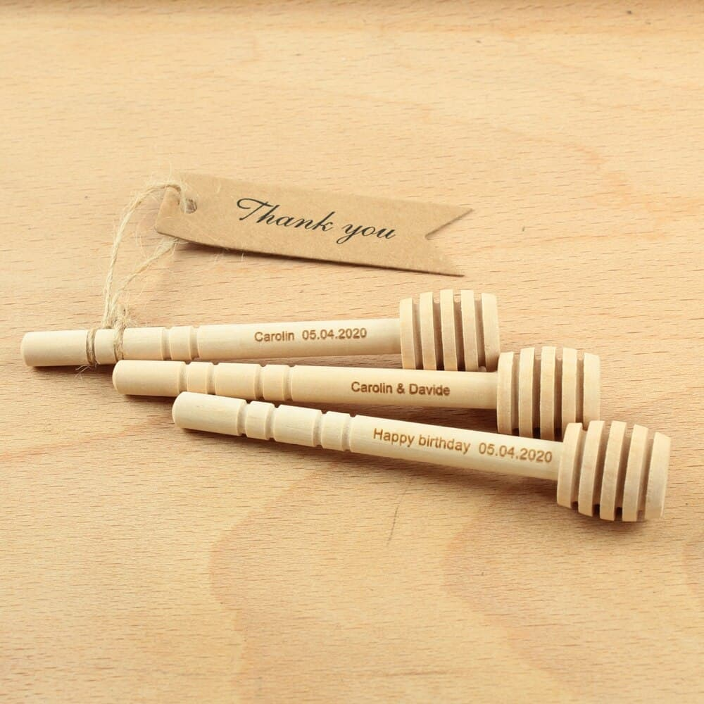 Wedding Gifts Nz: 10pcs Personalized Weddimg Honey Dipper Engraved Name Date